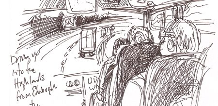 A trip to Loch Ness; Sketches from the NessBus