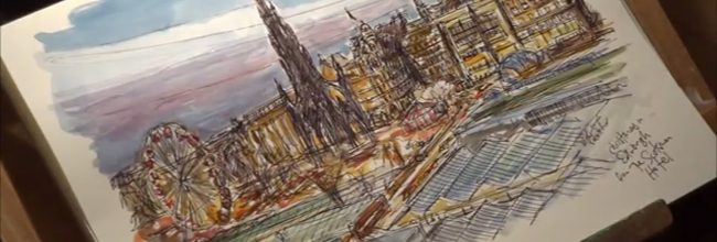 Time-lapse video: An Edinburgh sketch at Christmas