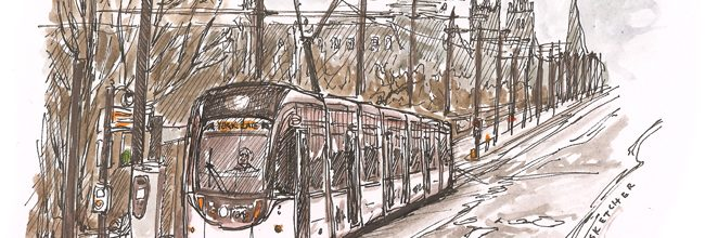 The trams arrive in Princes Street