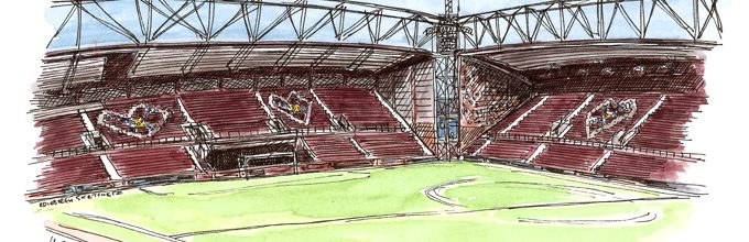 A Tynecastle sketch for Hearts Football Club