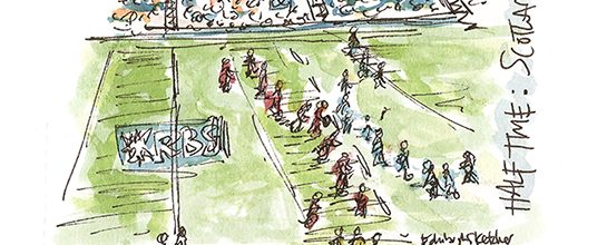Sketches from Murrayfield as Scotland take on Italy
