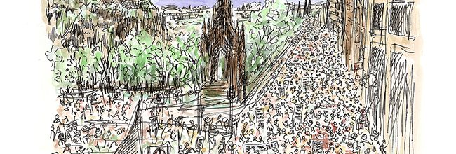 Buy a limited print commissioned to mark 10 years since the Make Poverty History march in Edinburgh