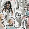 Sketching a book launch at Waterstones Princes Street