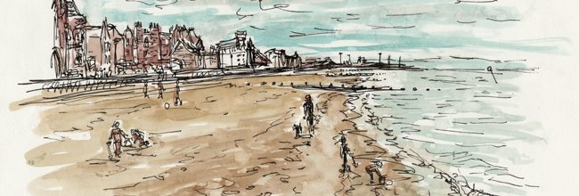 Painting Portobello in April showers