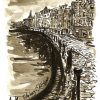 The Shore, Leith with India ink