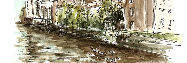 Sketching from the cycle path