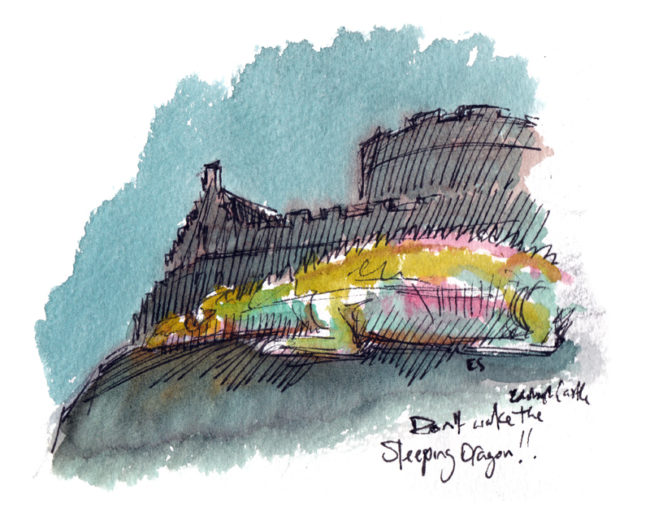 Castle of Light shines bright over Edinburgh | Edinburgh Sketcher