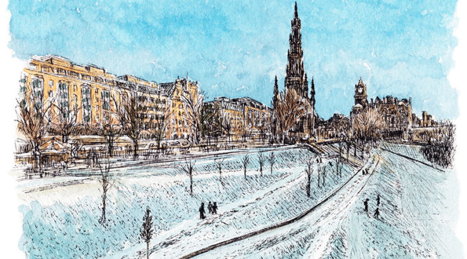 Wintry Princes Street Gardens