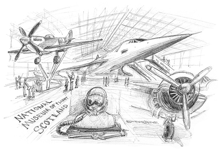 MuseumofFlight_pencil