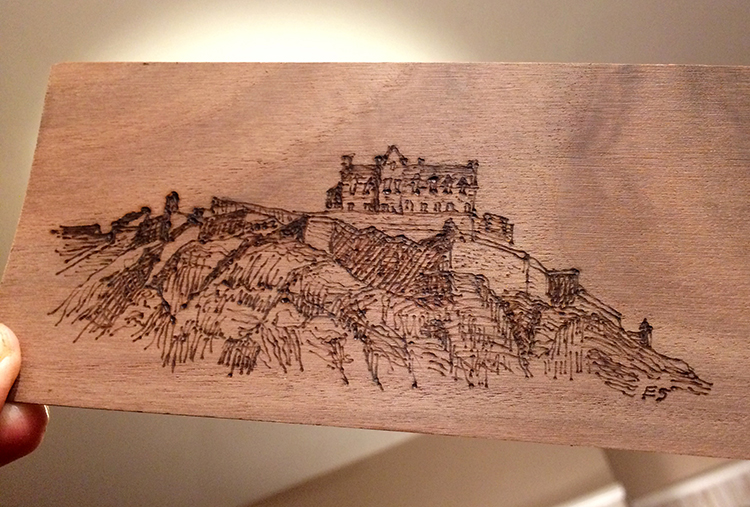 Pyrography Castle 2